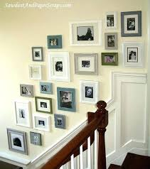 wall frame idea innovation idea collage wall frames picture frame for the stair case love light