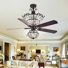 chandelier and fan 4 light crystal 5 blade inch chandelier ceiling fan chandelier fan white
