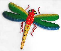 dragonfly wall decor painted metal garden decor tropical patio art 19 view images on outdoor metal dragonfly wall art with dragonflies metal art metal wall art hand painted metal