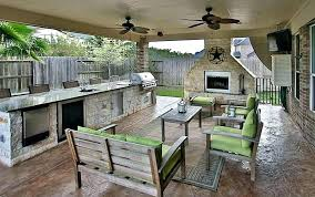 outdoor patio decorating ideas luxury covered for kitchen with long under porch new gorgeo