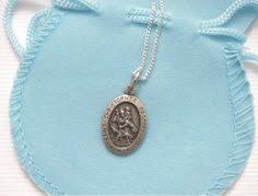 boys first holy munion st christopher necklace religious and traditional pendant for boy grandson nephew son son