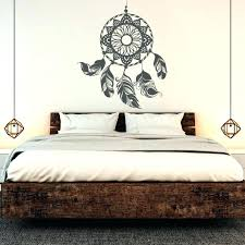 Bedroom Decor With Wall Art And Wood Bed Frame Unique Lamp Boho ...