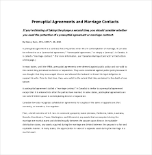 prenup samples 10 prenuptial agreement templates free sample example format