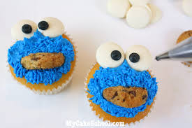 How To Decorate A Cookie Jar Cookie Jar Cake With Cookie Monster Cupcakes Blog Tutorial My 72