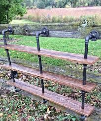 diy pallet iron pipe. Repurposed Pallet And Iron Pipe Triple Shelf Diy D