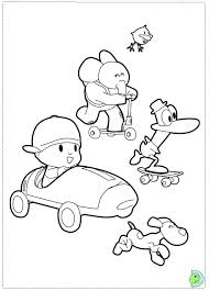 Small Picture Pocoyo Coloring page DinoKidsorg