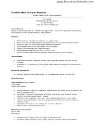 Resume Objective For Graphic Designer Web Designer Resume Sample httptopresumewebdesigner 91