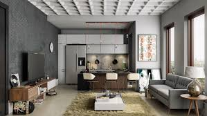 23 Open Concept Apartment Interiors For Inspiration | Masculine ...
