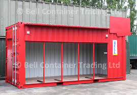 red 20ft shipping container