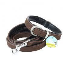 me my pets quality leather dog collar lead set small
