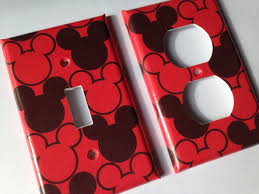 Mickey Mouse Bedroom Decor Mickey Mouse Light Switch Plate Cover Mickey Bathroom Decor