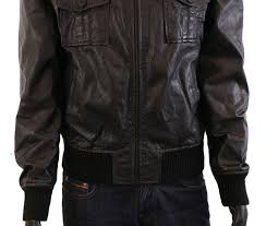 details about jack jones mens black leather jacket int l