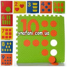 Коврик-пазл для детей Мегаразмер <b>Цифры</b> и фигуры М 0384 ...