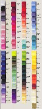 Color Chart Ribbons