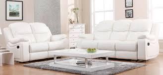 white leather sofa sets. Brilliant White Montreal Blossom White Reclining 3  2 1 Seater Leather Sofa Set   SofaShopcom In Sets L