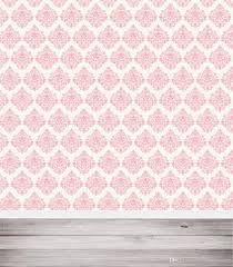 2019 light pink damask wall photography backdrops wood floor baby newborn children kids photo studio portrait background vinyl from backdrop
