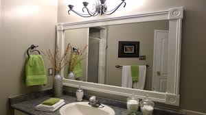 diy bathroom mirror frame ideas. Nice Bathroom Mirror Frame Ideas Related To Interior Design Concept With White Vanity Diy G