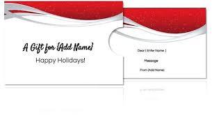 Custom Gift Certificate Templates Free Gift Certificate Holder Template Free Custom Card Holders