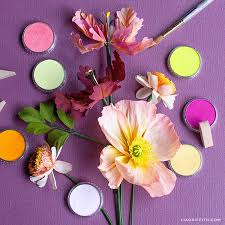 Paper Flower Video Video Tutorial How To Color Paper Flowers With Panpastel