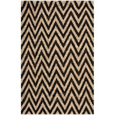 safavieh organic black natural 5 ft x 8 ft area rug