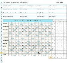 Excel Attendance Sheet Free Attendance Chart Template Daily ...