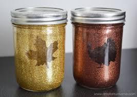 Fall Table Decorations With Mason Jars Glittered Thanksgiving Mason Jars Artsyfartsy Mama 64
