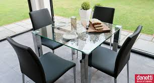 square glass dining table. Comely Small Dining Room Decoration Using Black Leather Chair Including Square Glass Top Dinner Table And Chrome Legs
