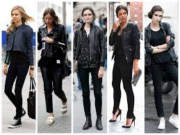 leather jacket rockstar street style