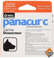Panacur C Canine Dewormer Net Wt 12 Grams Package Contents Three 4 Gram Packets