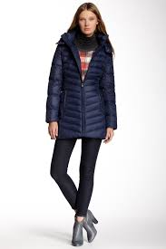 image of tommy hilfiger long packable down coat