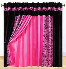 pink zebra print curtains