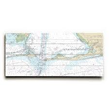 Al Dauphin Island Fort Morgan Pine Beach Gulf Shores Al Nautical Chart Sign Graphic Art Print On Wood