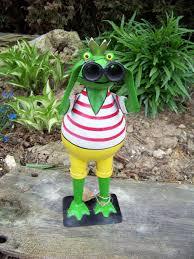 Zaunhocker Frosch Pirat Neu Gartenfigur Dekofigur Gartendeko