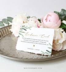 Baby Shower Registry Cards Template Free Templates Card