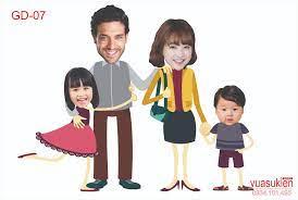 Hình chibi gia đình ngộ nghĩnh mà đong đầy yêu thương Shop Phụ kiện trang  trí sinh nhật Vuasinhnhat.com