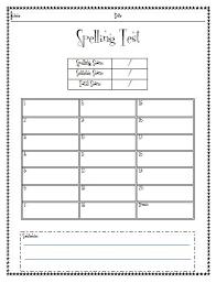 Spelling Test Template Magnificent Spelling Test Sheet Erkaljonathandedecker