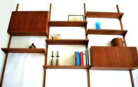 mid century modern display shelves floating shelf