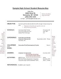 High School Student Resume Sample With No Work Experience Basic