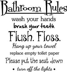 Amazon.com: #2 Bathroom Rules wash your hands brush your teeth flush ...