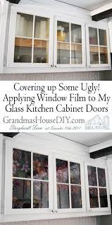 Applying Window Film To My Glass Kitchen Cabinet Doors