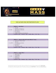 Fitness Diet Chart Gym Diet Chart Templates At Allbusinesstemplates Com