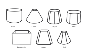 Visual synergy is important: if the body of your lamp is tall and  cylindrical, a tall drum lampshade may be best; if the lamp has a square  base and a round ...