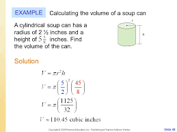 solution example calculating the volume of a soup can