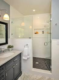 showers shower half glass wall glass bathtub doors with glass half