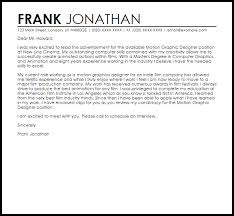 M Best Picture Motion Graphics Designer Cover Letter Resume Cover
