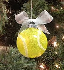 Sparkling Tennis Ball Ornament for Christmas! More tennis ideas at