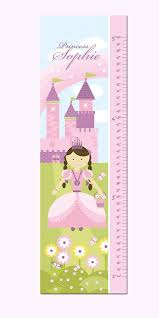 Personalized Princess Growth Chart Princess Growth Chart Personalized Canvas Princess And
