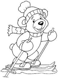 Small Picture Winter is the time to take a ski ride coloring page animals