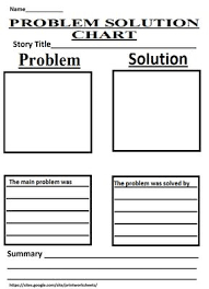 Problem And Solution Chart That Pushes Kids To Write