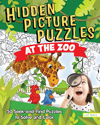 Hidden object games are a great opportunity to try your skills for concentration and focus. Hidden Picture Puzzles At The Zoo 50 Seek And Find Puzzles To Solve And Color Happy Fox Books Over 400 Secret Items And Animals To Search Find With Fun Facts And Activities For Kids Age 5 Up Liz Ball Liz Ball Liz Ball 9781641240376 Amazon